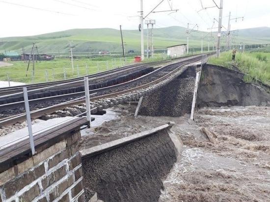 The bridge collapsed on the Transsib