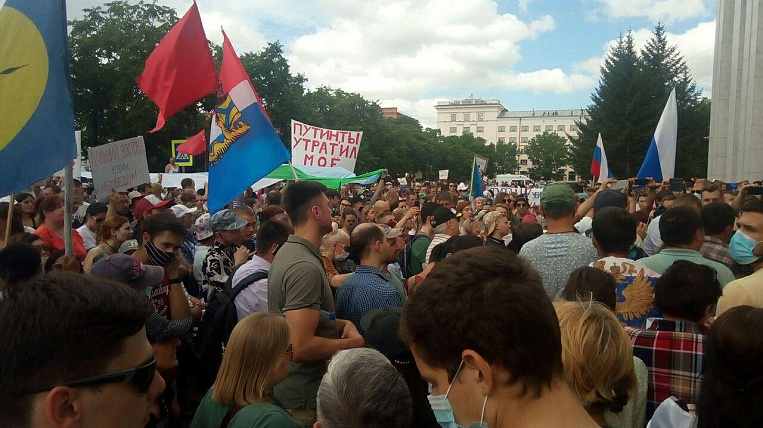 Degtyarev announced the requests of Khabarovsk residents to stop rallies