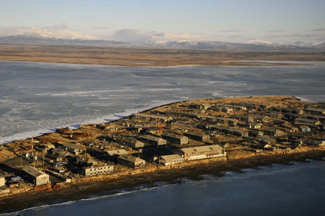 Without water and food left a village in Kamchatka