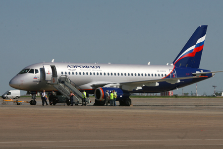 SSJ 100 removed from the flight due to engine problems