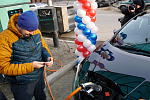 A new gas station for electric vehicles was opened in Khabarovsk
