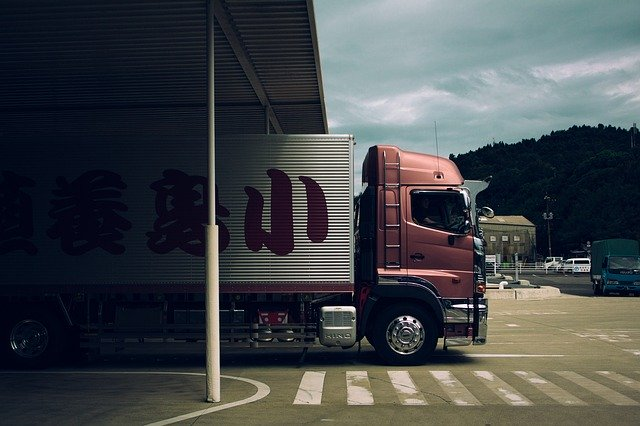 Truckers got stuck in traffic on the border of Transbaikalia and China