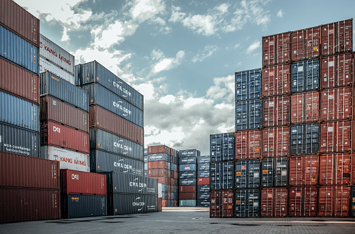 Container transshipment terminals in the Far East are overcrowded