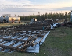 Worker died under a wind-blown roof in Yakutia