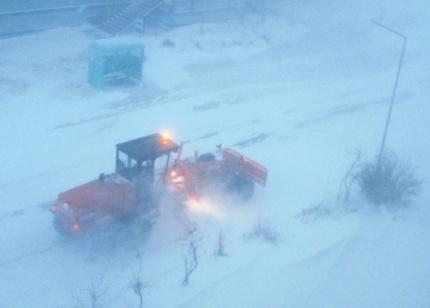 Storm wind forecast in Chukotka