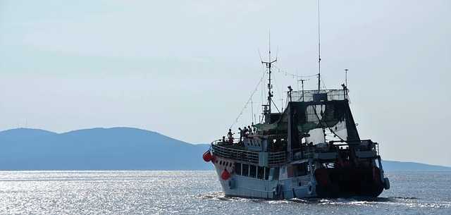 A lighted trawler disappeared in the Sea of Okhotsk
