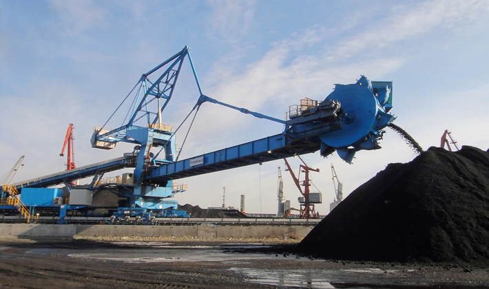 Coal transshipment VTS in the framework of the diversification of the client base began