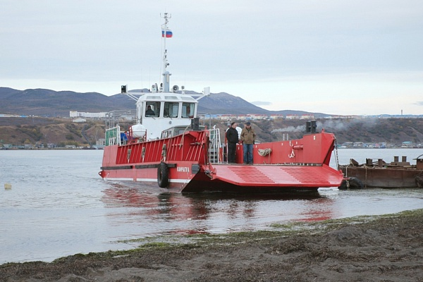 A new barge began operating in the north of Kamchatka