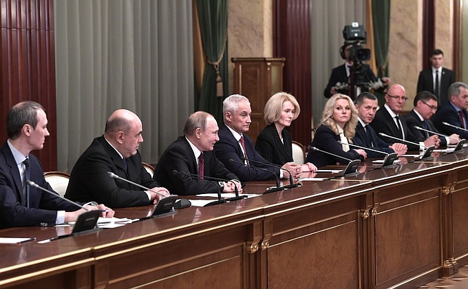 The composition of the new government approved in Russia