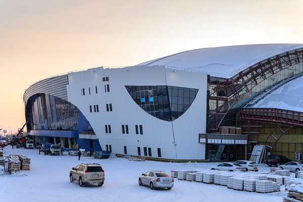 Indoor ice palace to be commissioned in August in Irkutsk