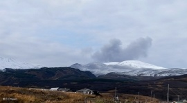 Ash release was recorded on a volcano in the Sakhalin region