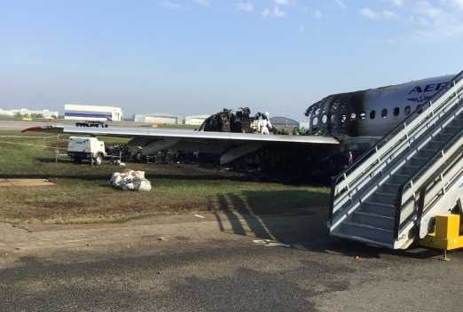 The pilot of the burned out in Sheremetyevo SSJ 100 called his version of the tragedy
