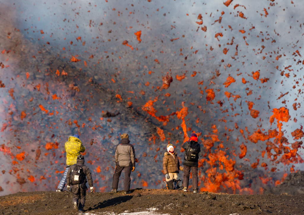 Photo by Denis Budkov. Selfies at the lava fountain of the Tolbachik volcano 2013 g.jpg