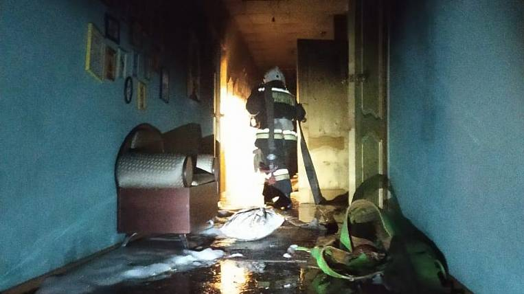 The fire started at night in the Elizovo children's boarding school in Kamchatka