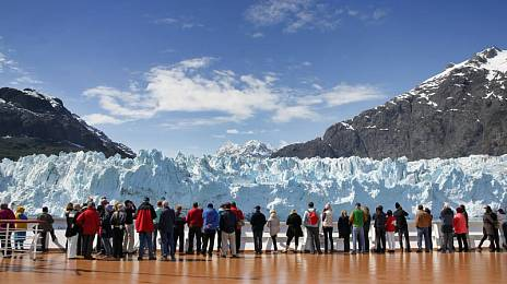 Tourist caress of Alaska