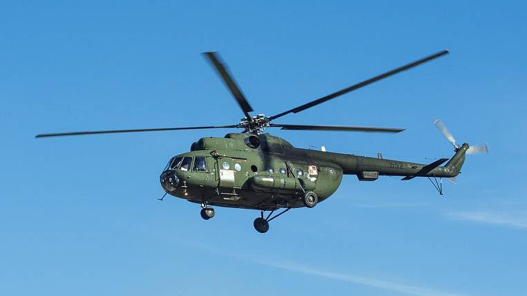 A military helicopter shot outside the safe zone in Chita