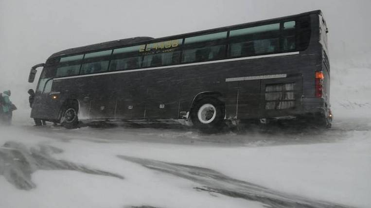 Roads, ferry and airport closed on Sakhalin