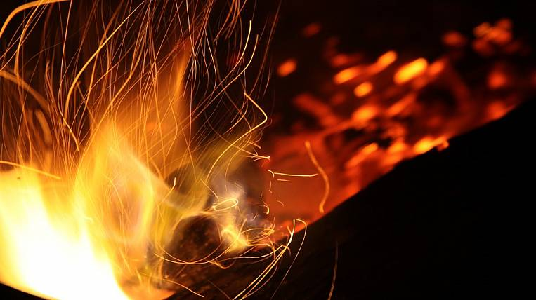 Construction market caught fire in Ulan-Ude
