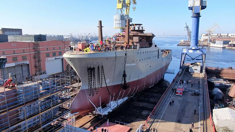 Super trawler for the Far East launched in St. Petersburg