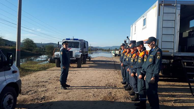 Emergency mode due to flood introduced in a village in Buryatia