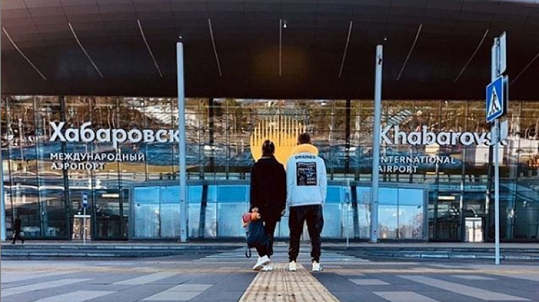 The new airport terminal in Khabarovsk took the first flight