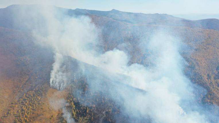 A forest fire is being extinguished for the third day in the Khabarovsk Territory
