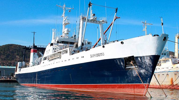 The first Russian fishing super trawler launched in March