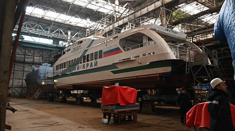 The construction of motor ships A-45-2 is reanimated in the Khabarovsk Territory