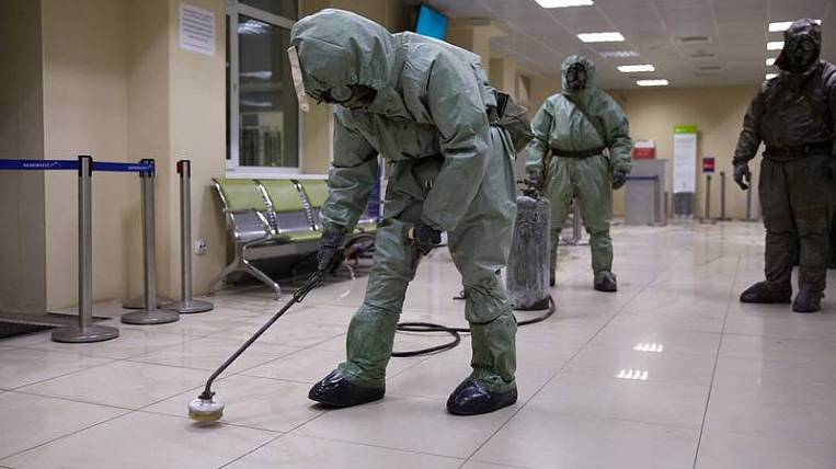 Disinfection of the airport and passenger buses carried out on Sakhalin