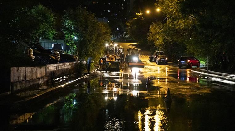 Heavy rains stopped public transport in Vladivostok