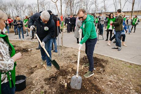 "New ""Green Square"" appeared in Khabarovsk as part of Sberbank's eco-campaign"
