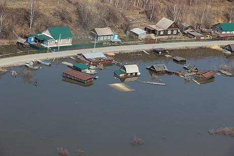 The flood reached Nikolaevsk-on-Amur in the Khabarovsk Territory