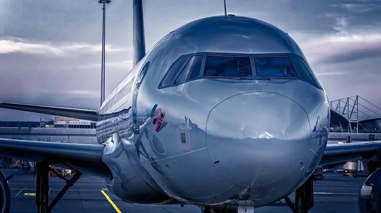 The plane made an emergency landing in Yuzhno-Sakhalinsk