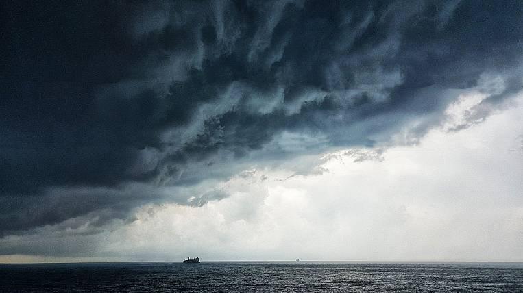 Storm wind forecast in Kamchatka