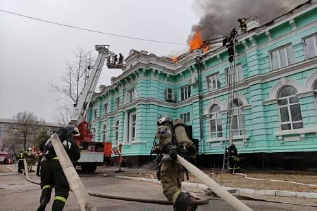 Cardiac surgery center caught fire in the Amur region