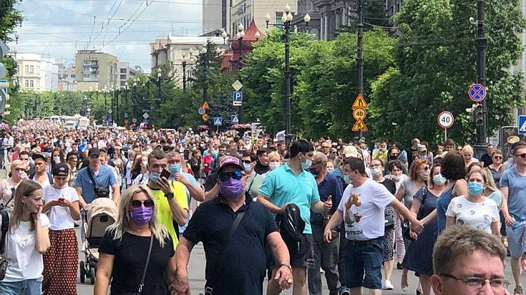 Thousands of people rally in defense of Furgal in Khabarovsk