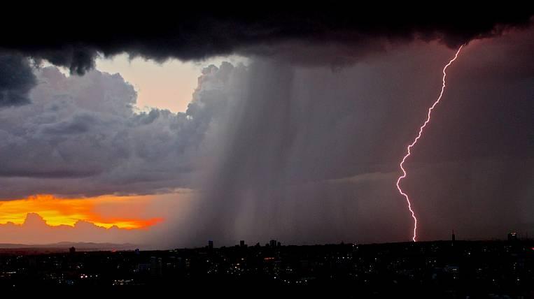 Thunderstorms and hail fall upon Buryatia
