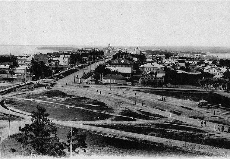 Khabarovsk on Japanese postcards: panorama 1920 year