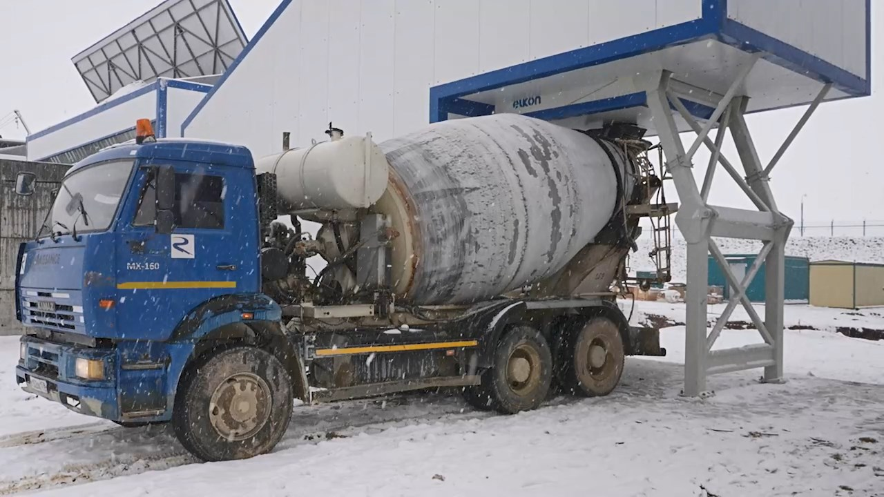 Own concrete production was opened at the Amur Mining and Chemical Combine