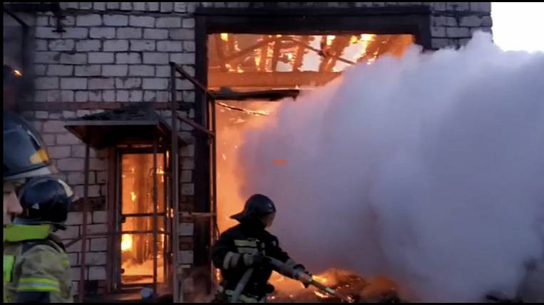 Coal production shop burned down in Irkutsk region