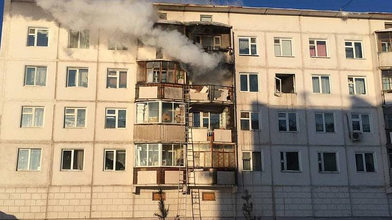 A gas explosion occurred in a multi-story building in Yakutsk