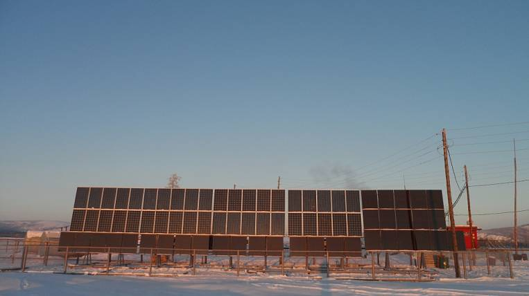 The new solar power plants have earned in the villages of Yakutia