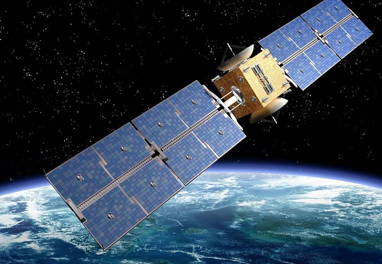 The satellite turned to the east