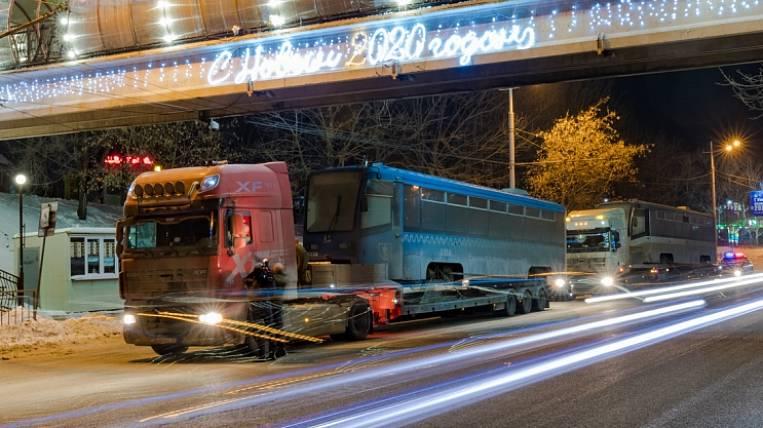 The first trams from Sobyanin received Vladivostok