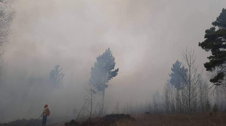 Smoke from forest fires engulfed the capital of Transbaikalia