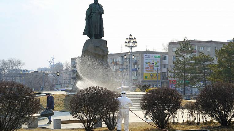 Streets began to be disinfected from coronavirus in Khabarovsk