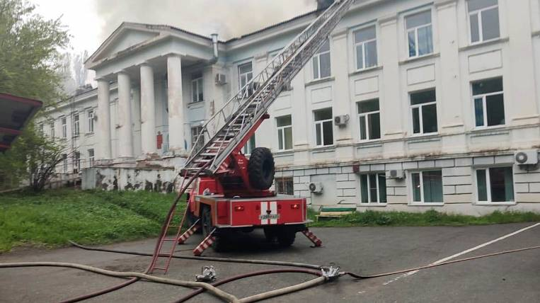 Verification due to fire of the roof of the hospital will be held in Primorye