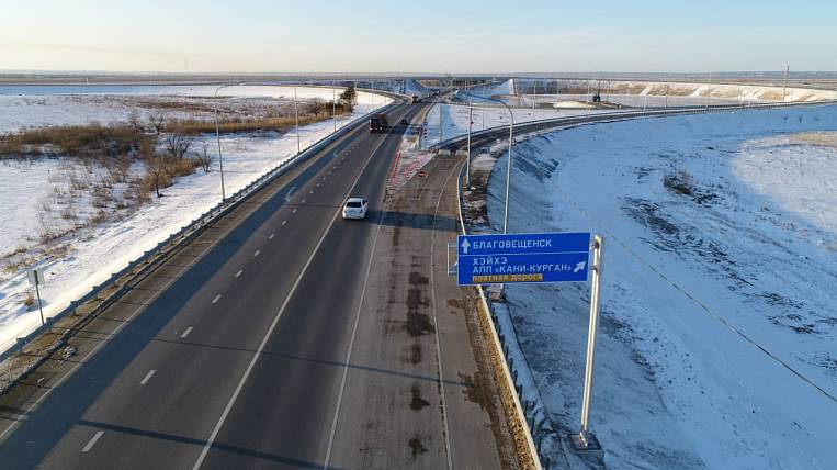 The road to the international bridge was built in the Amur region