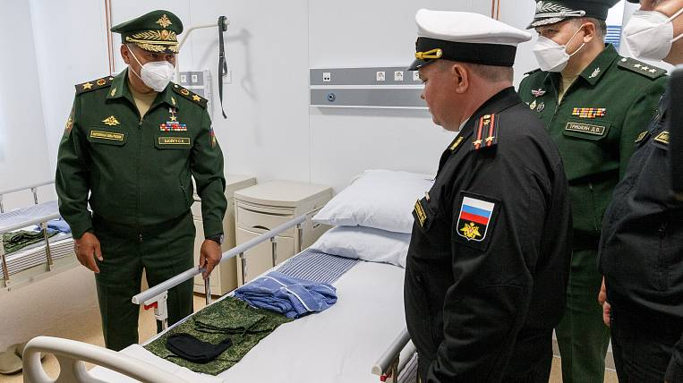 Sergei Shoigu visited the medical center of the Ministry of Defense in Kamchatka