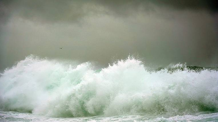 Storm warning announced off the coast of Kamchatka